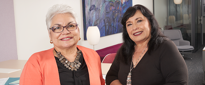 Pictured from left to right: Elisa de la Vara and Gloria Munoz