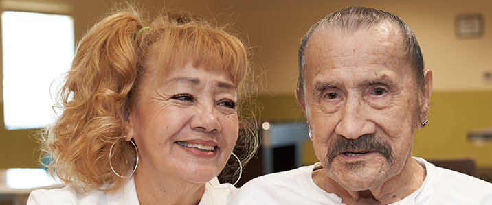 Pictured from left to right: Rita and Lucio 'Chief' Villalando